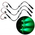 3 pack green LED micro effect