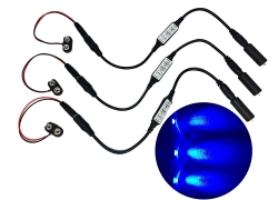 3 Pack blue LED micro effect light